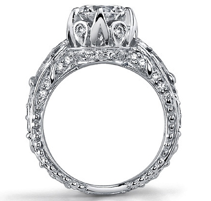 Edwardian Diamond Engagement Ring in 14K White Gold