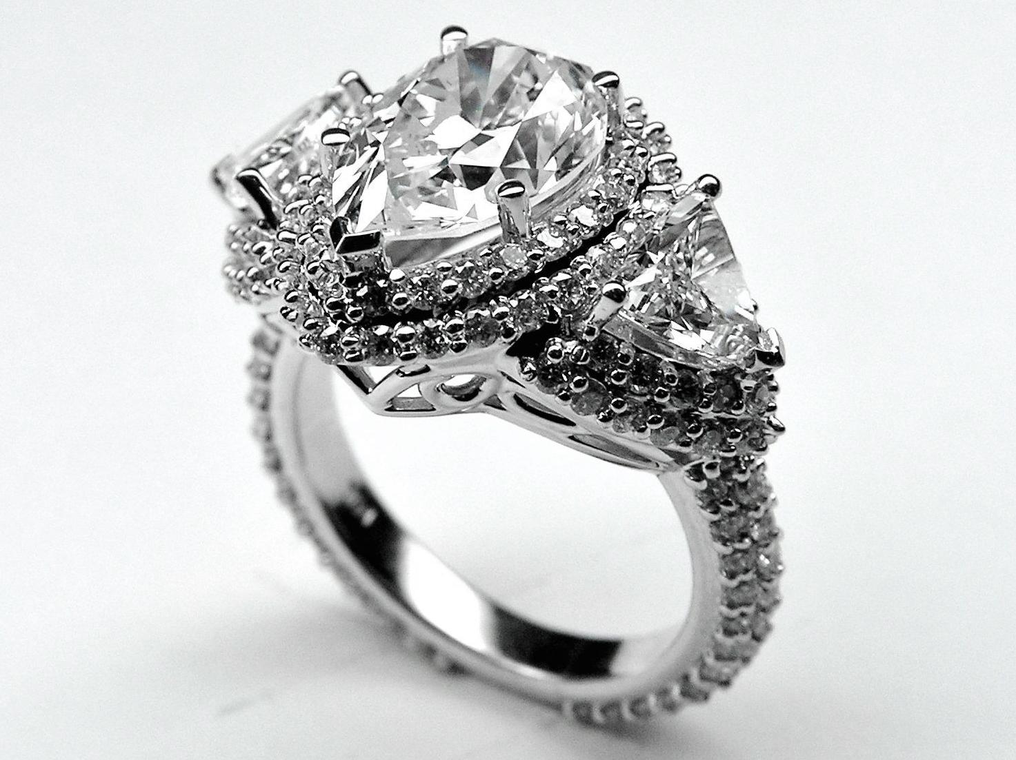 Engagement Ring Pear Shape Diamond Vintage Engagement