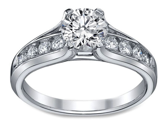 Bridge Diamond Engagement Ring 0.46 tcw