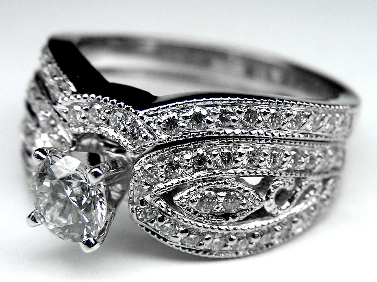 Engagement Ring Vintage Diamond Butterfly Engagement Ring