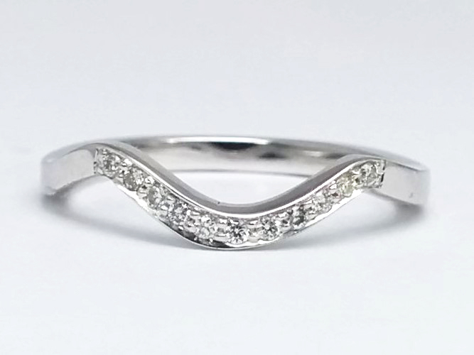 Twisted Diamond Engagement Ring and Two Wedding Bands
