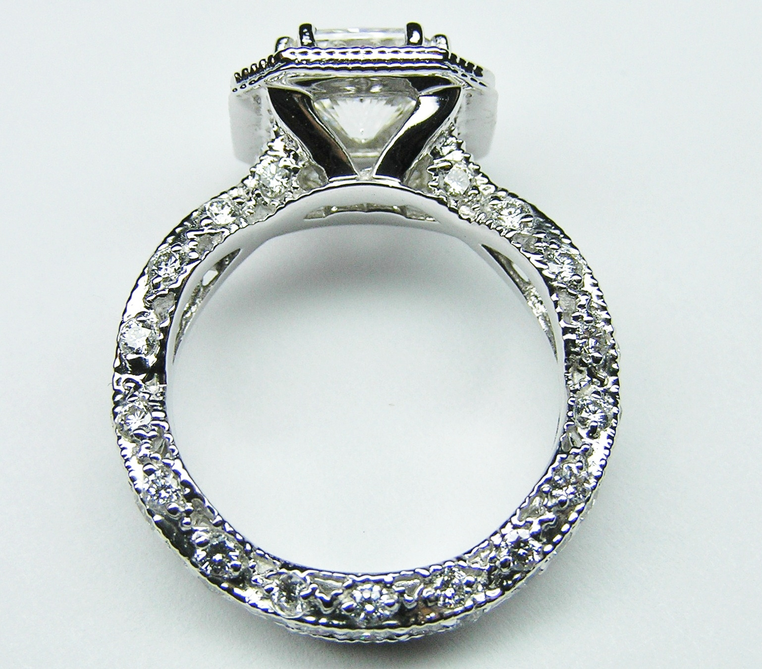 rings kwiat platinum jewelry ring the style radiant in engagement plat setting solitaire diamond set
