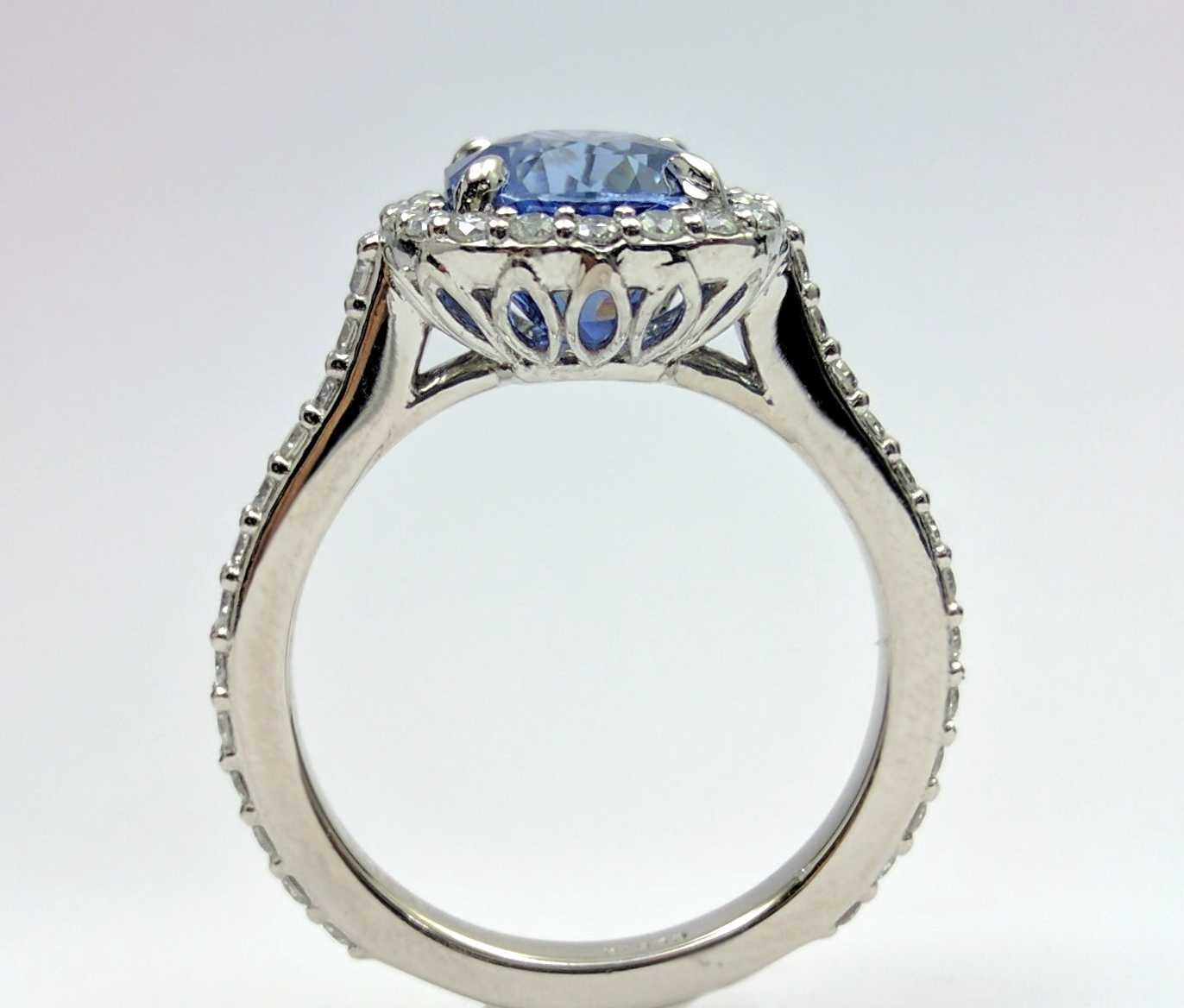 Cushion Halo Diamond Engagement Ring with Filigree