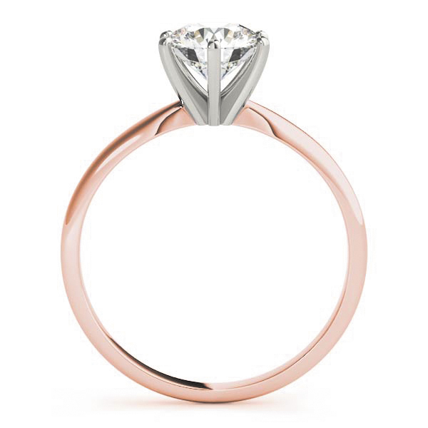 Classic Solitaire Diamond Engagement Ring Rose Gold