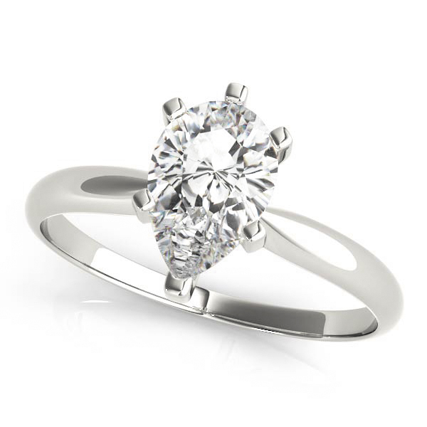 Classic Solitaire Pear Engagement Ring