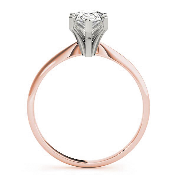 Classic Solitaire Pear Engagement Ring Rose Gold