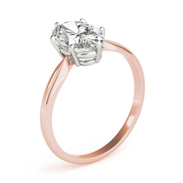Classic Solitaire Oval Engagement Ring Rose Gold