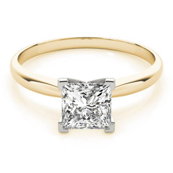 Classic Solitaire Princes Engagement Ring Yellow Gold
