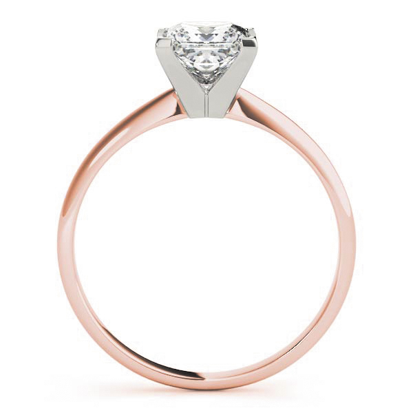 Classic Solitaire Princes Engagement Ring Rose Gold