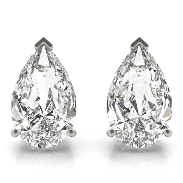 Pear Diamond Stud Earrings 1.0 Ct.
