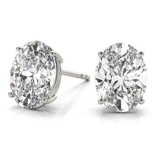Oval Diamond Stud Earrings 0.4 Ct.