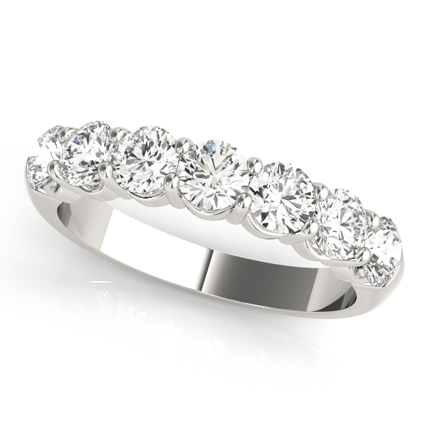 Round Diamond Wedding Band 2.4 Ct Platinum