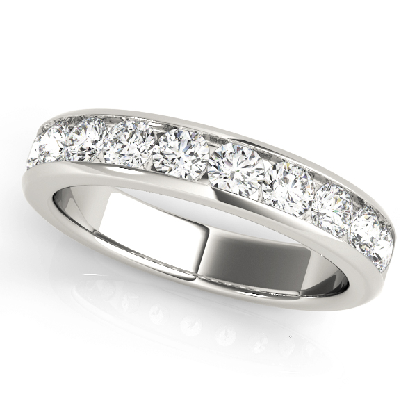 Channel Diamond Wedding Band 2.4 Ct Platinum