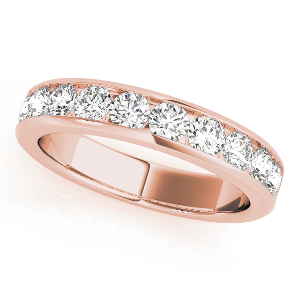 Channel Diamond Wedding Band 1.5 Ct Rose Gold