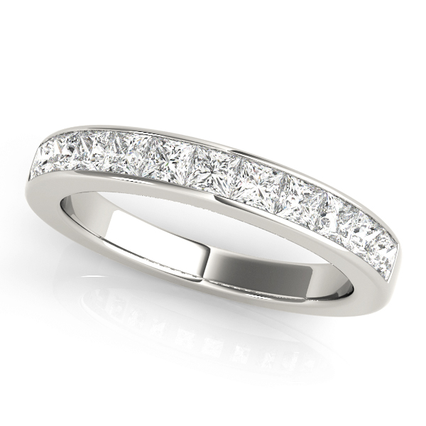 Nine Princess Diamond Channel Wedding Band 1.53 Ct