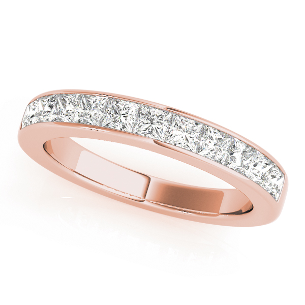 Eleven Princess Diamond Channel Wedding Band 1.1 Ct Rose Gold