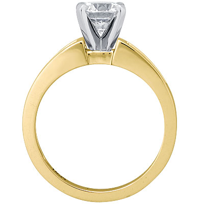 Diamond Engagement Ring Princess Band 0.4 tcw. In 14K Yellow Gold