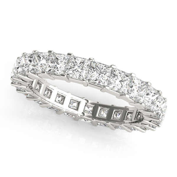 Princess Diamond Eternity Band 7.2 Ct Platinum