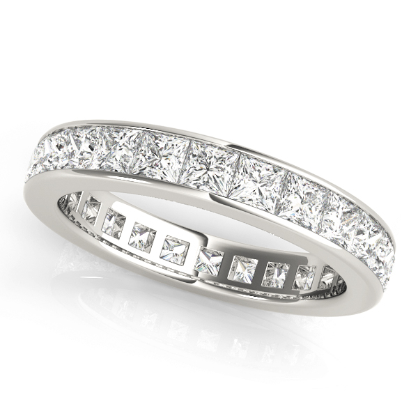 Channel Set Princess Diamond Eternity Band 1.2 Ct