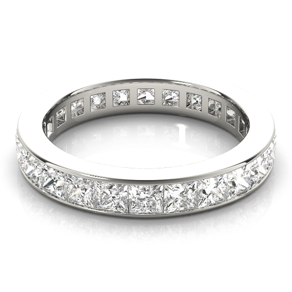 Channel Princess Diamond Eternity Band 7.2 Ct Platinum