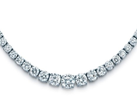 co platinum line graduated necklace diamond tiffany victoria