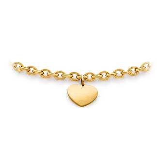 Heart-Tag Necklace in 14 Karat Yellow Gold