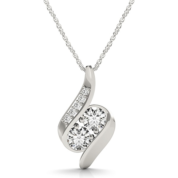 Duo Siren Mermaid Diamond Pendant, 1 carat total weight