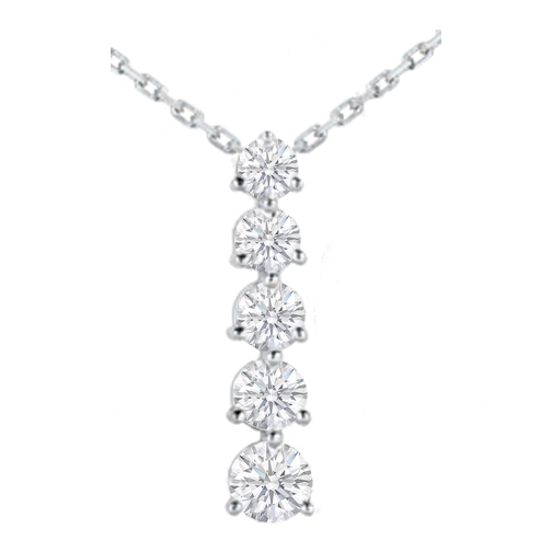 All necklaces and pendants from mdc diamonds nyc journey 5 diamond drop pendant in 14 karat white gold 250 tcw aloadofball Images