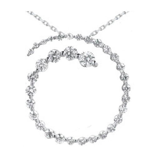 Journey necklaces and pendants from mdc diamonds nyc journey circle of love 33 diamond open overlapping pendant in 14 karat white gold aloadofball Choice Image