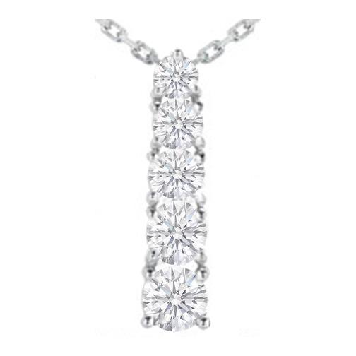 Necklaces and pendants journey 5 diamond drop pendant in 14 necklaces and pendants journey 5 diamond drop pendant in 14 karat white gold 250 tcw pd1663 aloadofball Gallery