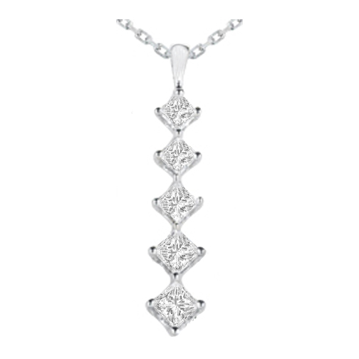 Necklaces and pendants journey 5 diamond drop pendant in 14 necklaces and pendants journey 5 diamond drop pendant in 14 karat white gold 165 tcw pd1747 aloadofball Images
