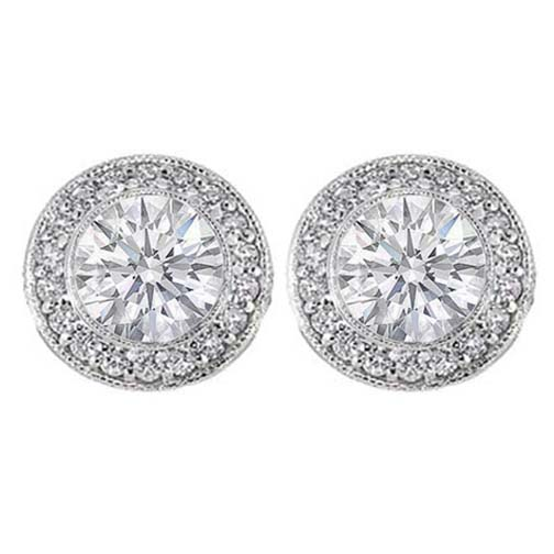 diamond yellow studs earrings stud bezel set carat gold