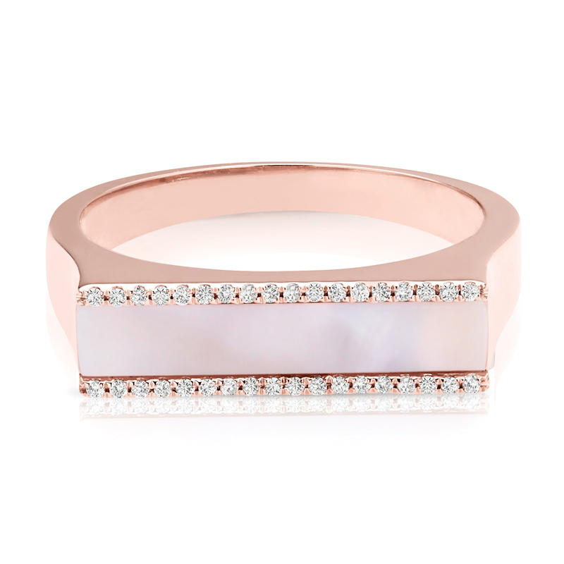 Parallel Diamond Rows & Pink Pearl