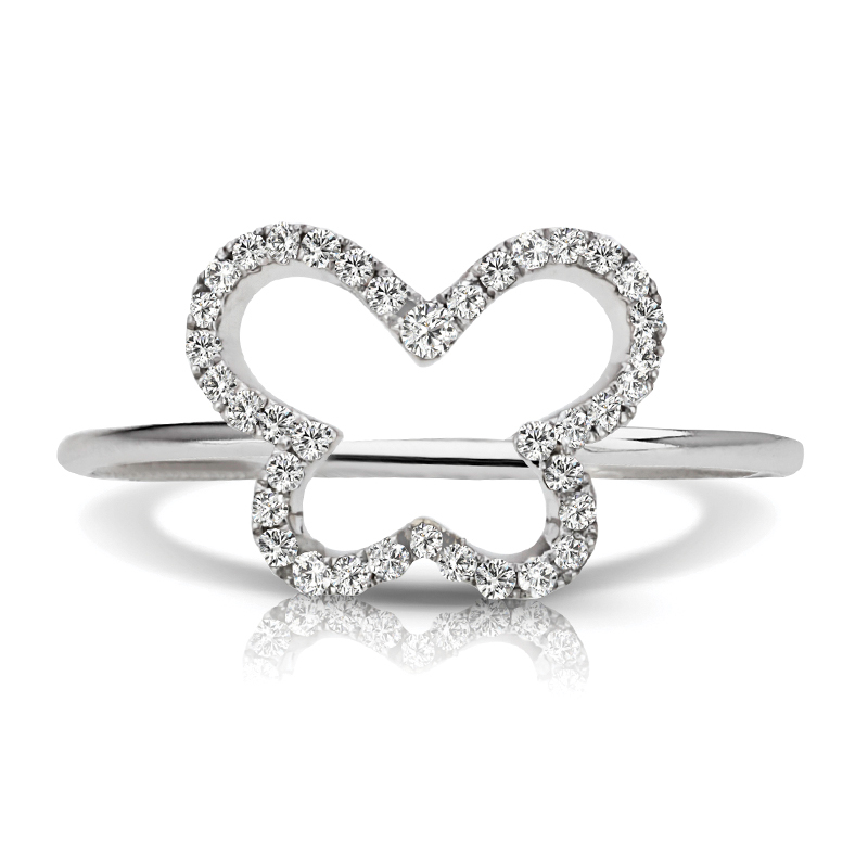 Petite Butterfly Diamond Ring