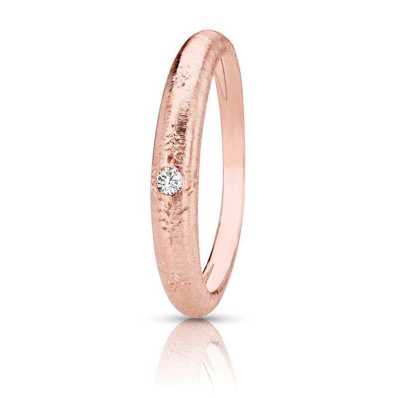 Comfort Fit Vintage Band in Rose Gold, 0.20 tcw.