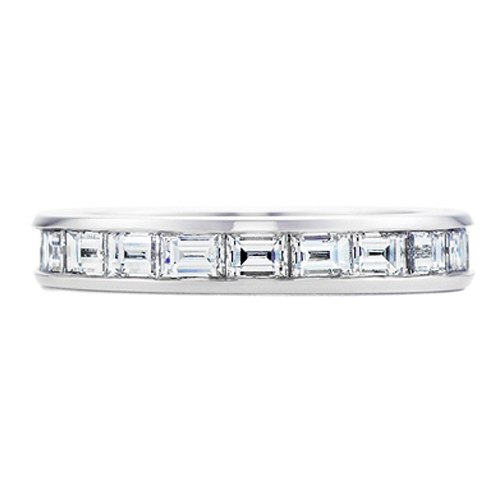 Baguette Diamond Platinum Eternity Wedding Band G-H VS 1.7 tcw.
