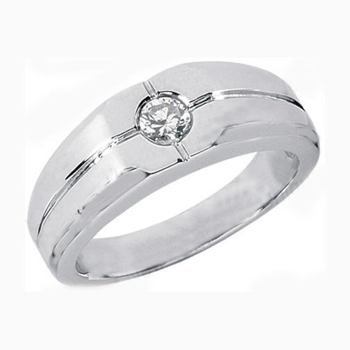 Bezel Set Solitaire Round Diamond Men 39s Wedding Band 025 Carat 273000