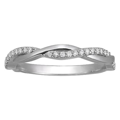 Wedding Band Infinity Diamond Wedding Band Tcw In 14K White