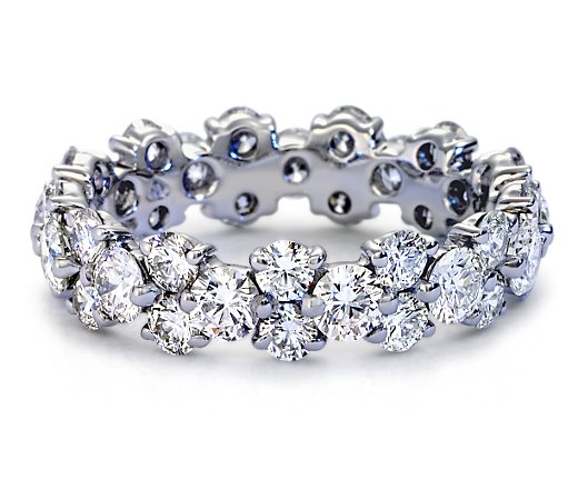 Garland Diamond Eternity Ring 2.52 TCW in 14 Karat White Gold