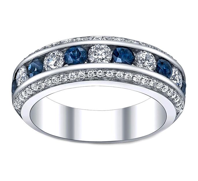 Sapphire Wedding Bands from MDC Diamonds