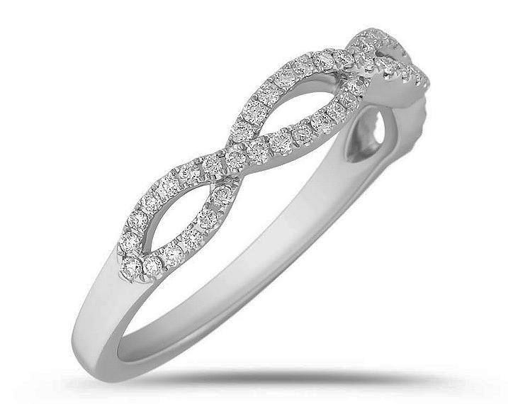 infinity diamond wedding band. infinity diamond ring 0.27 tcw in 14k white gold wedding band i