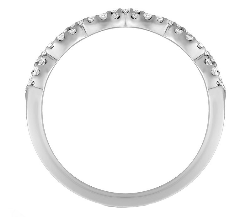 Infinity Diamond Wedding Ring in 14K White Gold