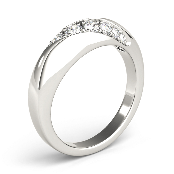 Diagonal Pave Diamond Wedding Band