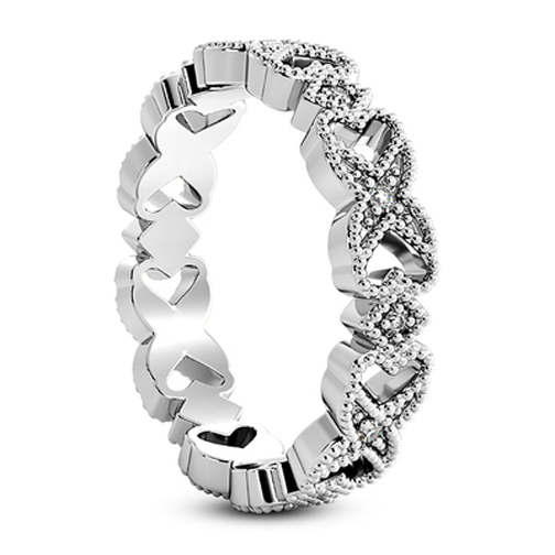 XO Eternity Diamond Wedding Band