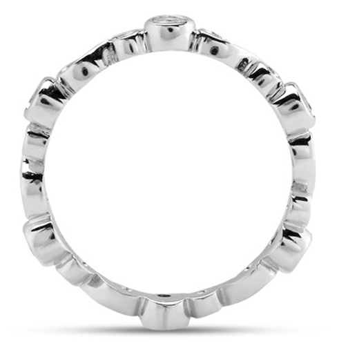 Infinity Bezel Diamond Wedding Band 0.18 tcw.