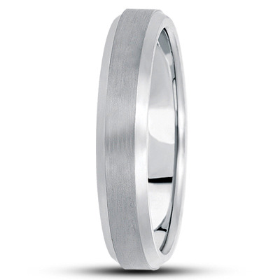 Wire Matte Beveled Multi Width Wedding Band