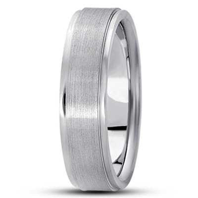 Wire Matte Raised Multi Width Wedding Band