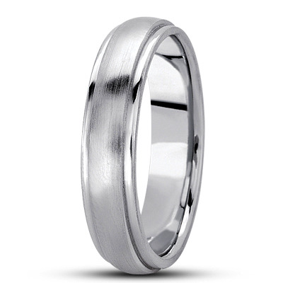 Wire Matte Low Dome Multi Width Wedding Band