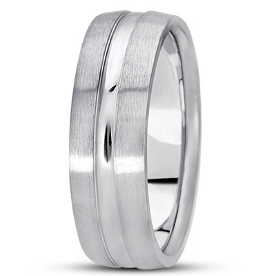 Domed Multi Width Section Wedding Band