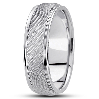 Textured Men's Wedding Band
